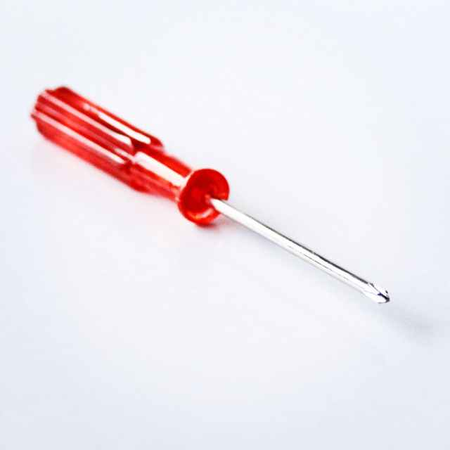 close up photography of red screwdriver
