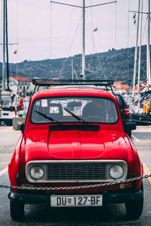 red renault vehicle