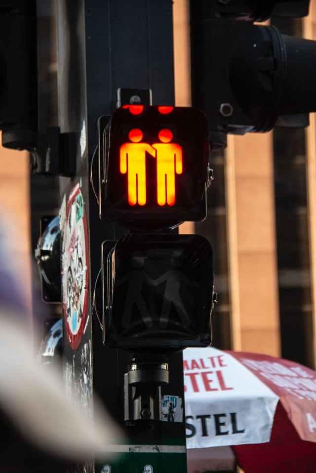 black traffic light displaying stop