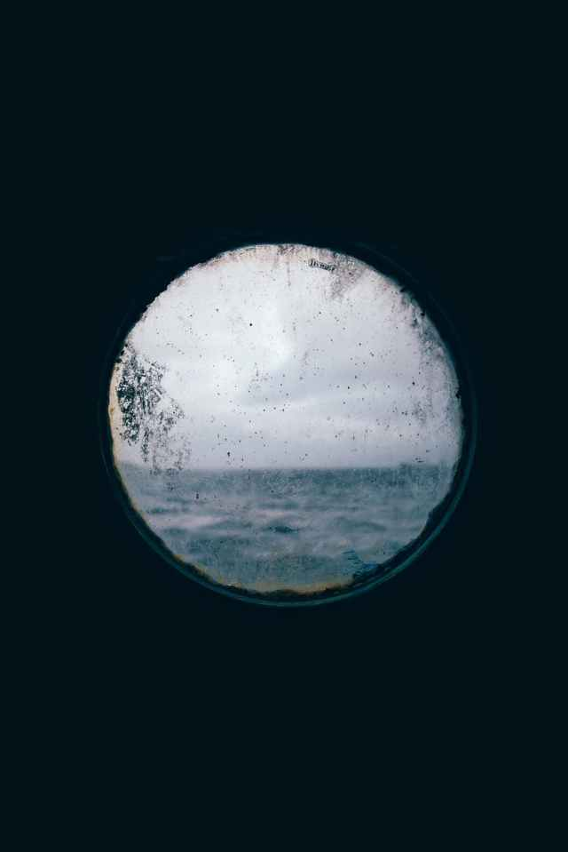 round window view of the ocean