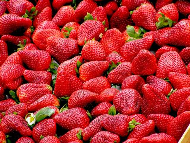 red strawberries fruit royalty free